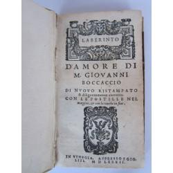 Laberinto d'Amore di Giovanni Boccaccio