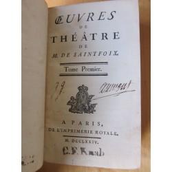 Oeuvres de théâtre de M. de Saintfoix 1774