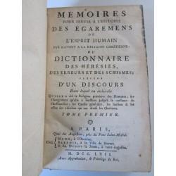 1762-Mémoires pour servir a l'histoire des égaremens