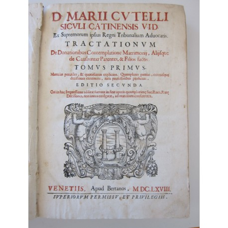 1668-Cutelli-Tractationum de donationibus