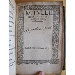 F.Syluii Ambiani in orationem M.T. Ciceronis pro Milone Commentarii, recogniti & aucti