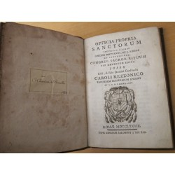 Officia propria sanctorum recitanda a clero dioecesis Portuensis, et S. Rufinae ..Cardinalis Caroli Rezzonico